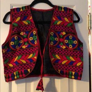 Vintage Boho cropped vest